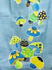Nos Vtg 70s Psychedelic Mushroom Shroom Tex-Knit Blue Ironing Board Cover & Pad