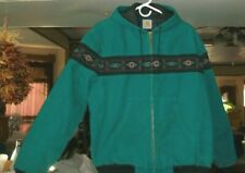 VINTAGE CARHARTT JACKET GREEN AZTEC PATTERN SIZE L QUILTED INSIDE