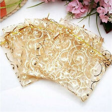 FD3110 Jewelry Candy Organza Pouch Bags Wedding Party Favor Gift 9X11cm 10PCS♫