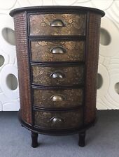 Chinese Chest of Drawers Oriental Style Storage Unit Home Decor Furniture Dark
