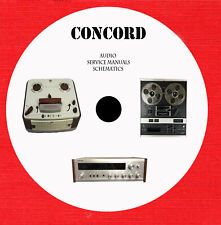 Concord audio repair service manuals and schematics on 1 cd in pdf format