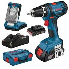 Bosch Perceuse-visseuse sans fi GSR 18-2-LI + 2 batteries, chargeur, GLI VariLED