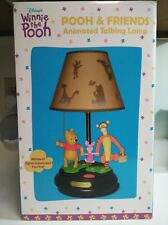 Disney Winnie The Pooh Animated Talking and Singing Lamp with Shade NEW IN BOX