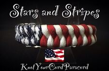 Stars And Stripes 550 Paracord Survival Bracelet Custom Made