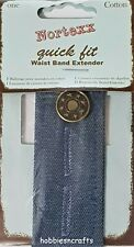 NORTEXX UNISEX WAISTBAND EXTENDER FOR MATERNITY JEANS TROUSERS & SKIRTS - NO SEW