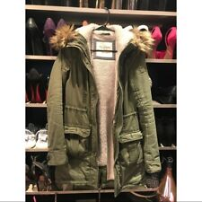 Abercrombie & Fitch by hollister Womens meg Fur long Parka/coat/ jacket Small