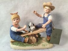"Homco ""Denim Days"" 1985 #8827 Playtime See-Saw w/Tag"