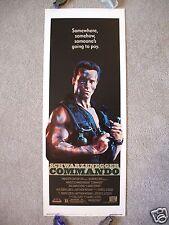 COMMANDO *1985 ORIGINAL MOVIE POSTER INSERT RARE ROLLED ARNOLD SCHWARZENEGGER NM