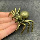 6.1cm Collection Brass Spider Statue Home Decoration Animal Figurine Ornaments