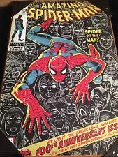 """Marvel Comics The Amazing Spiderman 100th Anniv Cover Wood Wall Plaque 13""""x19.5"""""""