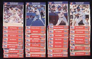 1992 DIET PEPSI COLA COLLECTOR SERIES MLB BASEBALL CARD SEE LIST
