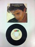 """ALEJANRO SANZ - SI TU ME MIRAS - VINILO SINGLE 7"""" - WEA 1993 PROMOCIONAL!!!"""