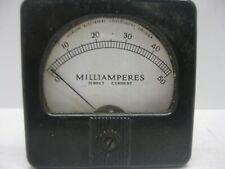 Vintage Marion Electrical Gauge Milliamperes Direct Current 0 50 Panel Meter