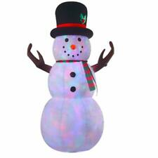 VIDAMORE 8 Foot Large Inflatable X-Mas Plush Snowman LED Lighted Inflatables Ou