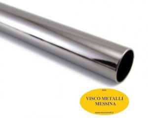 Tubo tondo acciaio cromato misure varie arredamento tenda fai da te casa brico