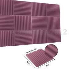 1PC Charcoal Studio Soundproofing Acoustic Wedge Foam Tiles Wall Panel 3x30x30cm