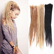 """20"""" 100% Human Hair Dreadlocks Reggae Punk Dreads Crochet Braids Hair Extensions"""