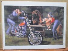 Vintage David Mann Bear Interrupts Picnic Poster E37