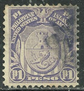 U.S. Possession Philippines stamp scott 260 - 1p issue of 1909/13