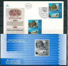 ISRAEL 1993 45th INDEPENDENCE DAY STAMP MNH + FDC + POSTAL SERVICE BULLETIN