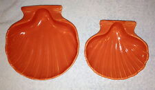 Two Tomato Baking Shells made by Hall China with Salesman's Stickers