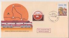 Stamp Australia Tarcoola pse SA Country Rail cachet The Alice stuck on badge