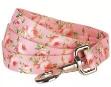 Blueberry Pet Designer Dog Leash, Pink Rose Floral, Size S, NEW