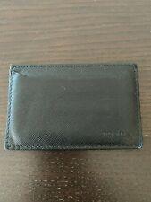 Prada Men's Slim Black Saffiano Leather Cardholder