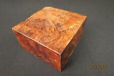 "HONDURAN ROSEWOOD BURL 4"" X 4"" X 2 1/4""  BOWL BLANK UNREAL COLOR FIGURE EYES!!!!"