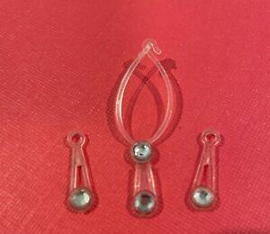 Superstar Barbie Doll Jewelry Crystal Drop Necklace  Earrings Set 1980s Vintage