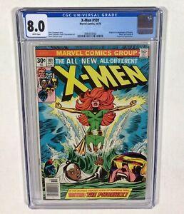 X-MEN #101 CGC 8.0 KEY!  WHITE! (1st Phoenix & Origin! Wolverine) 1975 Marvel