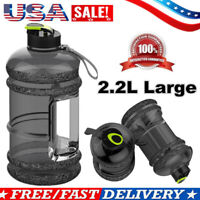 2.2L Large Big BPA Free Sports Outdoor Training Drink Water Bottle Cap Kettle US