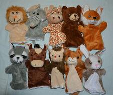 Handpuppe ,Pferd,Fuchs, Bär, Löwe, Giraffe, Hase, Igel u.a  Plüsch, Tier wählbar