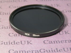 58mm ND8 Filter Neutral Density for Canon,Nikon, Sigma,Sony, Pentax Camera Lens