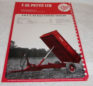 Original Pettit trailer brochure dated 1972,produced for the Smithfield Show