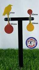 4 METAL TARGETS ON 2 DOUBLE STEEL SPINNERS AIR RIFLE SHOOTING PLINKING *PK05