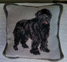 "Newfoundland Dog 100% Wool Petite Needlepoint Pillow 10"" by 10"""