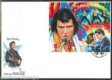 TOGO  2014 ELVIS PRESLEY WTH JUDY TYLER  SOUVENIR SHEET FIRST DAY COVER