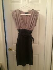 Gray Arden B belted dress small