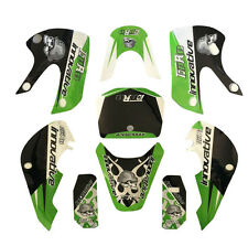 3M Decals Green Stickers Graphics For KLX110 KX65 DRZ110 pit dirt Bike