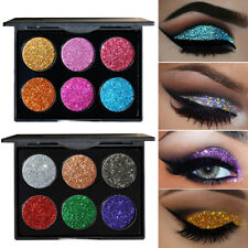 6 Colors Glitter Eye Shadow Powder Palette Shimmer Eyeshadow Makeup Cosmetic Kit