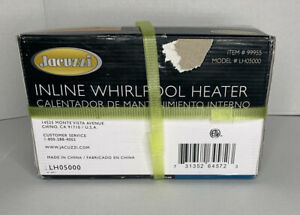 Brand New Jacuzzi Inline Whirlpool Spa Heater LH05000-Factory Sealed Item# 99955