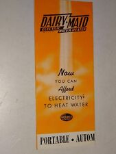 1940's Dairy Maid Electric Water Heater from the Babson Bros. brochure