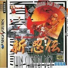 SHIN SHINOBI DEN Shinobiden Sega Saturn Import Japan Video Game