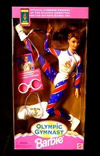 Mattel Toys Olympic Gymnast Barbie Brunette Licensed Atlanta Olympic Games 1995