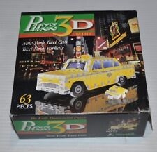 PUZZ-3D New York Taxi Cab MINI PUZZLE 63 pieces Complete Wrebbit