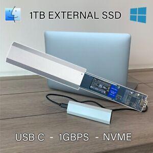 1TB External Hard drive SSD NVME USB C 1GBPS