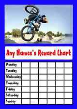 Blue Bmx Star Sticker Reward Chart