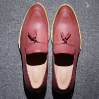 Men's Leather Loafers Smart Slip On Tassel Formal Fashion Casual Shoes Size