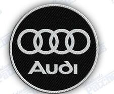 """AUDI AUTO CAR  SPORTS iron on embroiderED patch 3.0"""" X 3.0""""  IncHES"""